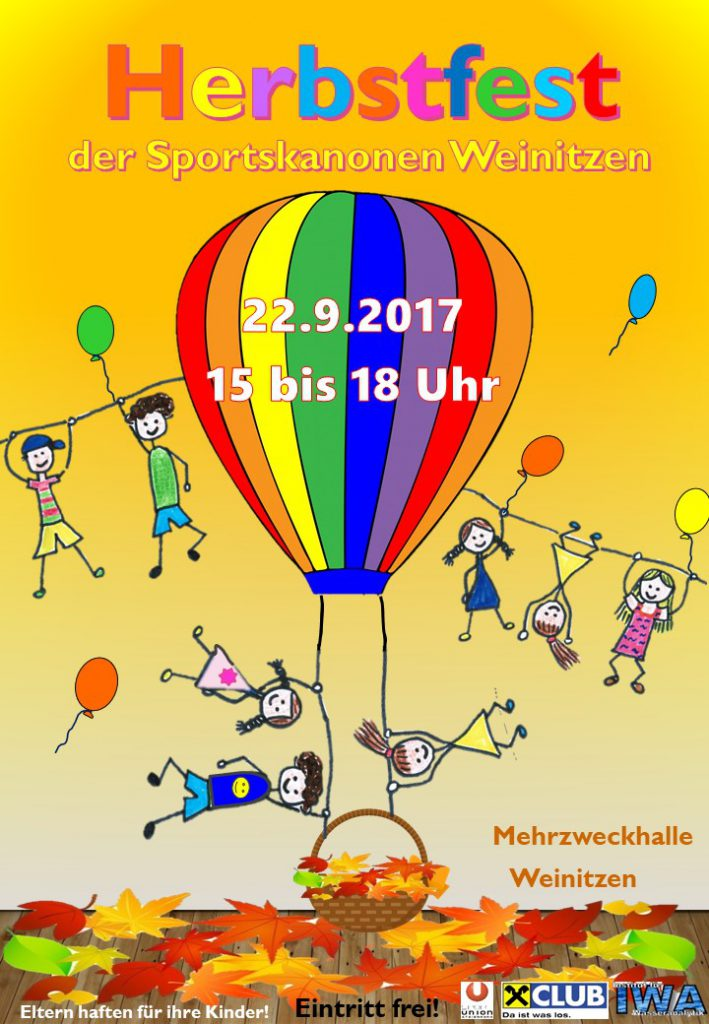 Herbstfest Flyer Ballon BILD DATEI